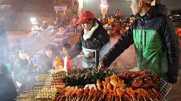 Món ăn ở chợ đêm đà lạt