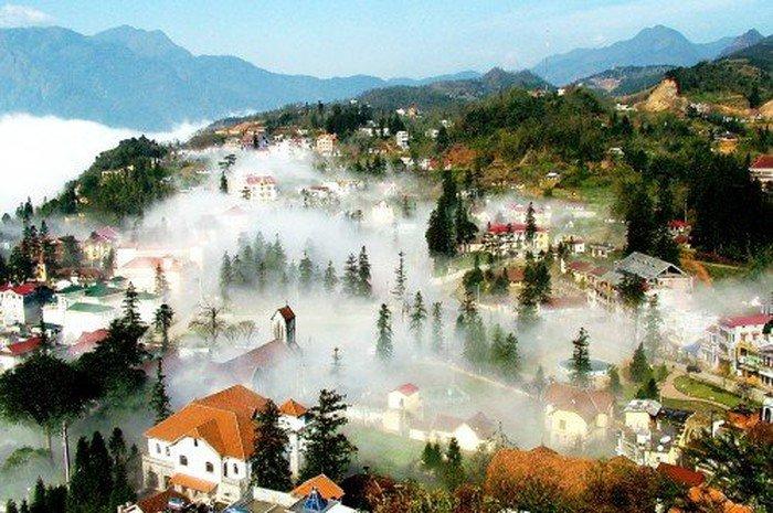 Cảnh sương phủ trắng sapa